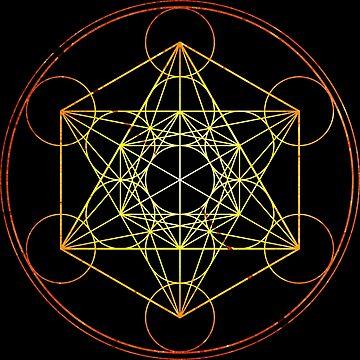 Metatron's Cube [Circled] [Enlightening Sunset] by SirDouglasFresh
