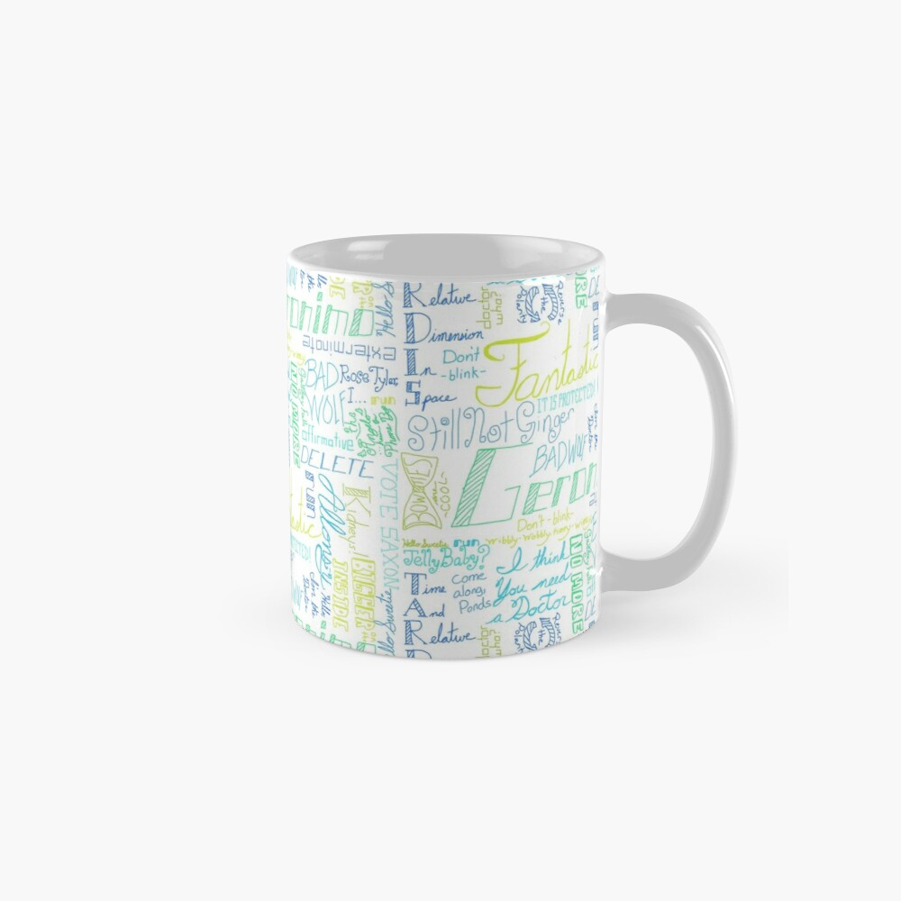 quotes from a mad man in a box mug by majoranthegeek redbubble