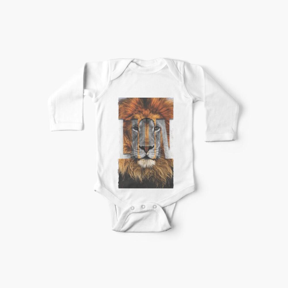 Löwe Stanzen Baby Body