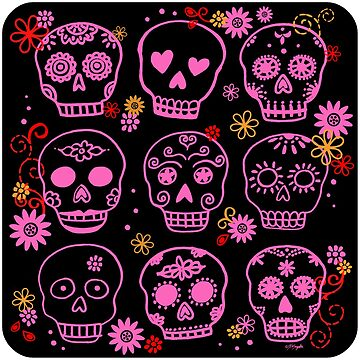 Mexican Pink Sugar Skulls  by ArtVixen
