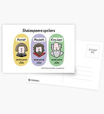 Shakespeare-Spoiler Postkarten