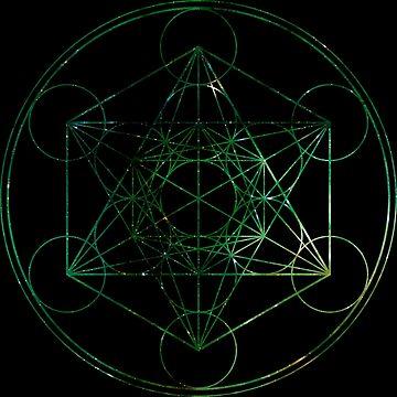 Metatron's Hidden Eye [Green Stars] [Circled] by SirDouglasFresh