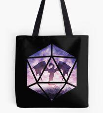 Purple Sky Dragon D20 Tote Bag