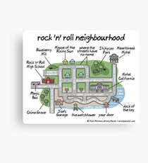 rock 'n' roll neighbourhood Canvas Print