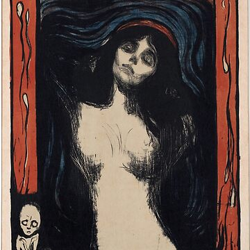 Madonna 2 by Edvard Munch (Reproduction) by RozAbellera