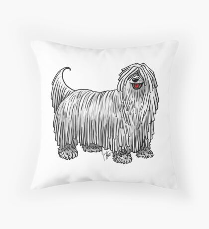 Komondor Throw Pillow