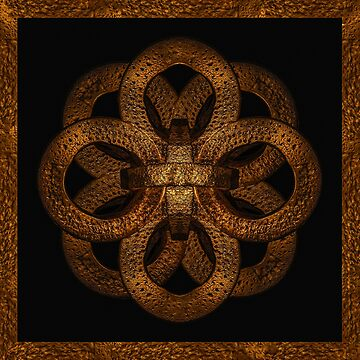 Golden Iron Ornate Mystical Symbol Artwork by DFLCreative