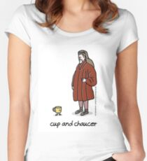 cup and chaucer Fitted Scoop T-Shirt