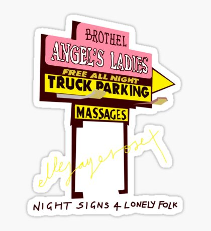 Night Signs 4 Lonely Folk #1 Sticker