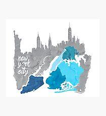 New York City  - watercolor Photographic Print