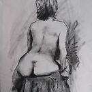 sitting figure by Mick Kupresanin