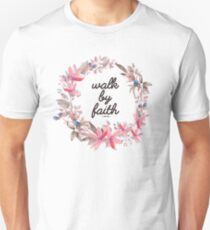 Christian Quote Watercolor Flowers Unisex T-Shirt