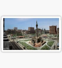 Cleveland's Public Square 1907 Colorization Sticker