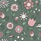 Pastel Floral Pattern by Pamela Maxwell