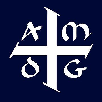 AMDG Jesuit Catholic Cross - Ad Majorem Dei Gloriam by AKandCo