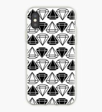 Black and white diamonds pattern iPhone Case