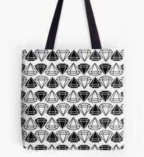 Black and white diamonds pattern Tote Bag
