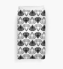 Black and white diamonds pattern Duvet Cover
