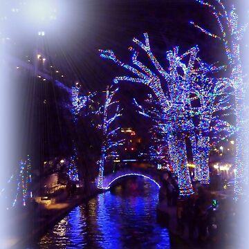 Riverwalk,  Christmas Lights by Sita