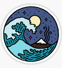 Waves at Night Life is Good Live Simply Sticker