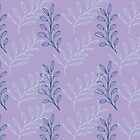 Homeland Flora Floating Leaves in Lilac by radgedesign