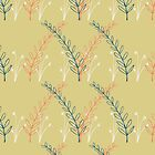 Homeland Flora Meadow in Mustard by radgedesign