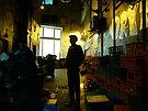 man in melbourne laneway by Juilee  Pryor