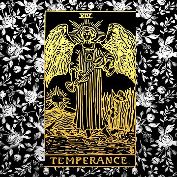Temperance - A Floral Tarot Print by annaleebeer