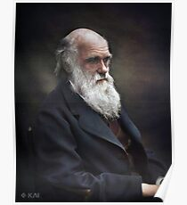 Póster Charles Darwin 1874 Colorized