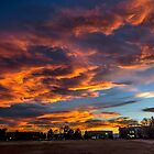 Clouds In Fire by Alla Gill
