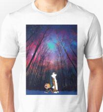 calvin and hobbes nebula night Unisex T-Shirt