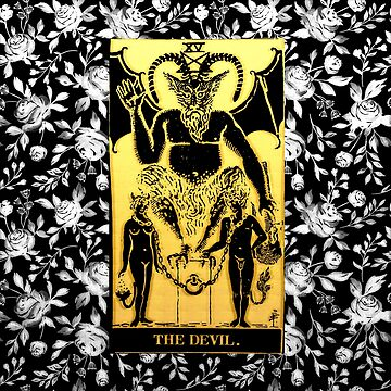 Floral Tarot Print - The Devil by annaleebeer