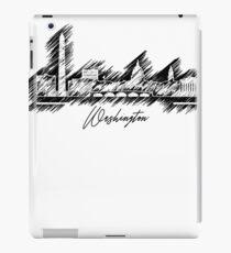 Grafische Gekritzelskyline Washingtons iPad-Hülle & Klebefolie