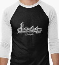 Washington graphic scribble skyline -White Men's Baseball ¾ T-Shirt
