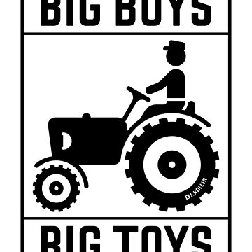Big Boys – Big Toys (Tractor / Traction Engine / Black) by MrFaulbaum