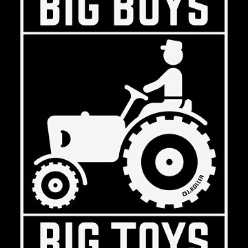 Big Boys – Big Toys (Tractor / Traction Engine / White) by MrFaulbaum