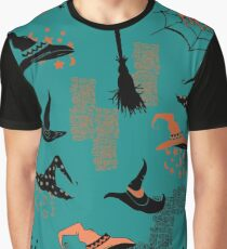Halloween Witch Hats Graphic T-Shirt