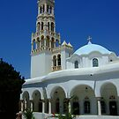 Bell-tower of Panagia Evangelistria (Our Lady) of Tinos church by Themis