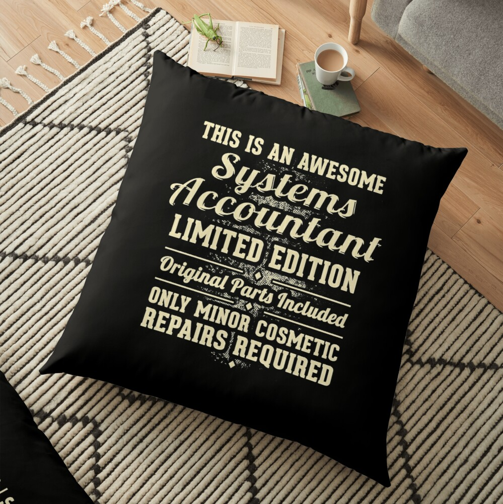 Systems Accountant Funny Job Gift Floor Pillow