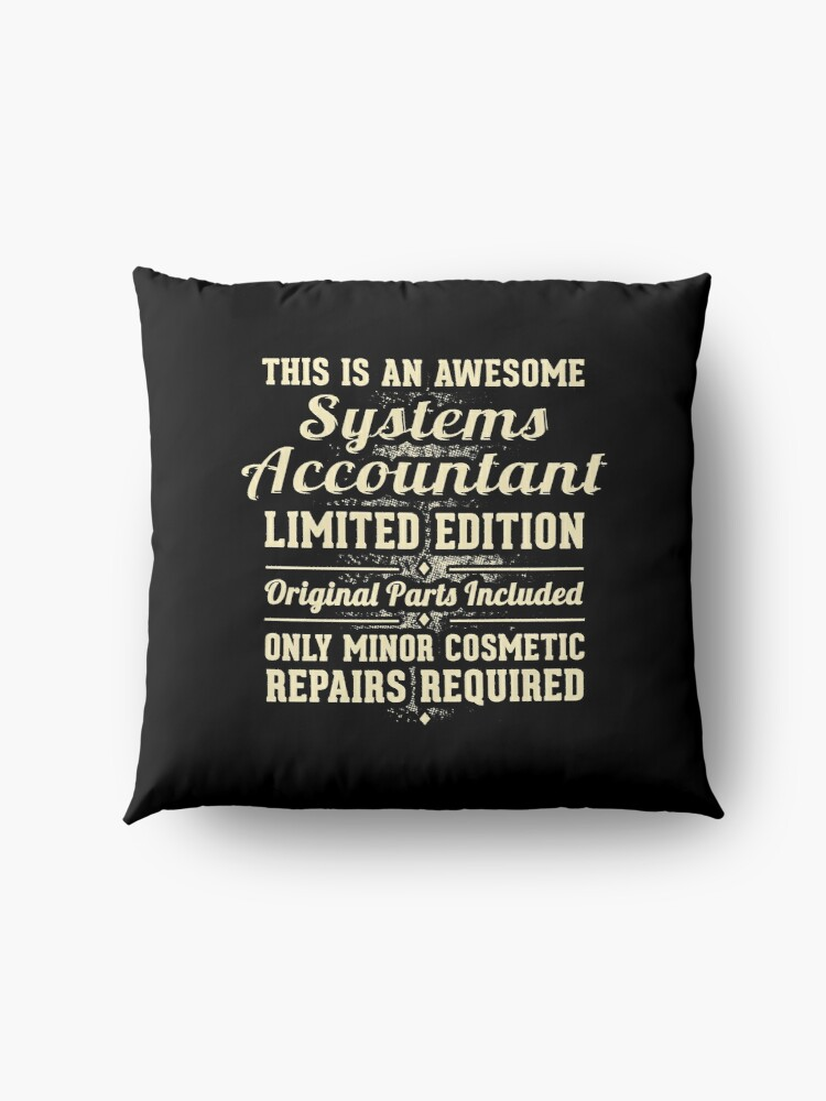 Alternate view of Systems Accountant Funny Job Gift Floor Pillow