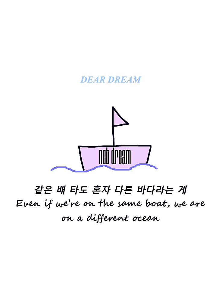 Nct Dream Dear Dream Jisung Quote By Jkmonie Redbubble