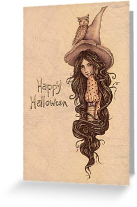 Witchy Halloween Card by Brett Manning