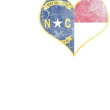 I Love North Carolina Beer Flag by frittata