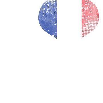 I Love French Beer Flag by frittata