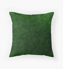 Emerald Green Grass Velvet | Texture  Throw Pillow