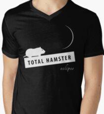T-Shirt Hamster on the Mountain staring at Moon Men's V-Neck T-Shirt