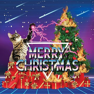 Space Cat The Laser Kitten Conquers Christmas by banwa
