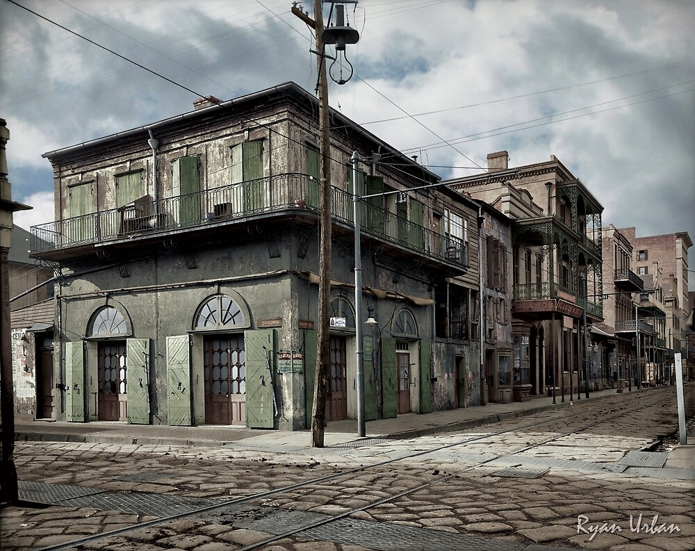 New Orleans Old-Absinthe House on Bourbon Street Circa 1903 by ryanurban