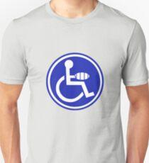 DISABLED JOKE PARKING SIGN HAND Unisex T-Shirt