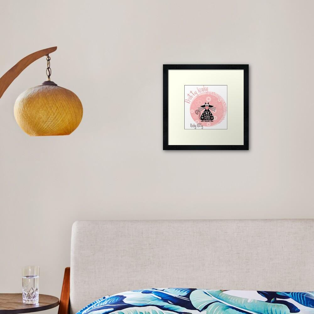 KINKY KITTY - Pretty Kinky Framed Art Print